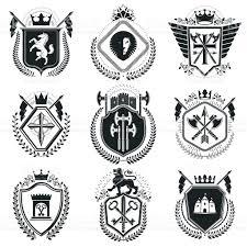 vintage award designs vintage heraldic coat of arms vector emblems