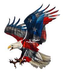 3d patriotic eagle with american flag design laser cut metal wall