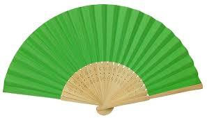 folding fan folding paper fan 8 25 green
