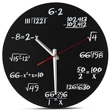 decodyne math clock unique funny wall clock each hour marked