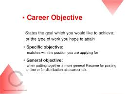 Job Objectives On Resume by Cv Resume Writing Career Development