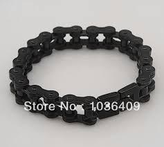 black stainless steel chain bracelet images Buy black stainless steel mens motorcycle bike jpg
