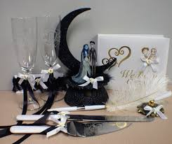 corpse bride wedding cake topper lot glasses by yourcaketopper