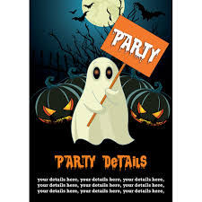 Spooky Party Ghost Halloween Invitation Buzz Invites