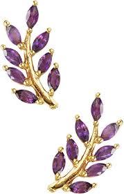 eddera earrings olive branch amethyst stud earrings by eddera at i designer