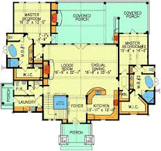 dual master bedroom floor plans plan 59638nd two master suites pantry