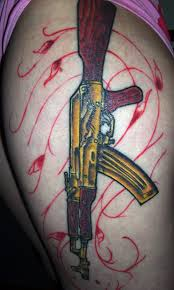 ak 47 gun tattoo design on arm photo 1 2017 real photo