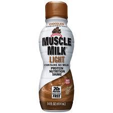 100 calorie muscle milk light vanilla crème muscle milk light chocolate protein nutrition shake 14 oz walmart com