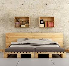 Bed Ideas by Recycled Pallet Bed And Hanging Book Shelves Diy U0026 Crafts