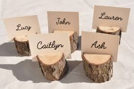 20 wood place card holders rustic place card holders with