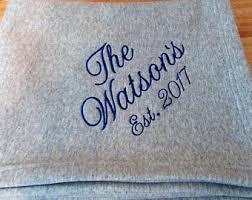 personalized wedding blanket college blanket etsy