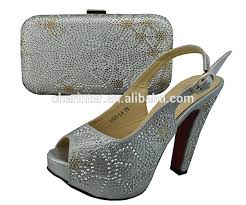 wedding shoes and bags 2015 new design italian shoes and matching bags women