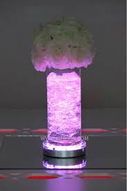 wholesale led under table lights 36pieces battery powered remote control multi colors 6inch led base