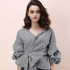 wrap blouses 2018 shoulder tops and blouses 2017 arrival
