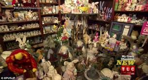 rabbit collection fill their home with 28 500 rabbit items including the ten
