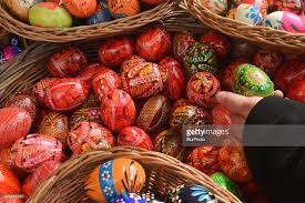 easter eggs for sale easter market in poland photos and images getty images