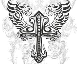 dove and cross tattoo these cross tattoos with wings are sure to look uniquely ethereal