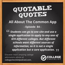 all about the common app college checklist podcast