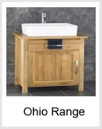 Oak Bathroom Cabinets Solid Oak Bathroom Furniture ClickBasin - Solid wood bathroom vanity uk