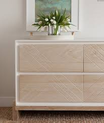 Beautiful Bedroom Dressers Beautiful Bedroom Features A Two Tone Dresser Fitted With Chevron