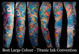 this awesome batman sleeve tattoo brings the dark knight straight