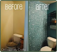bathroom stencil ideas stenciled bathroom cutting edge stencil giveaway and review