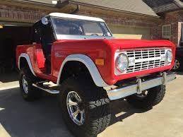stroppe bronco 72 ford bronco viper red white trim 3spd manual 36x15 5x18 baja