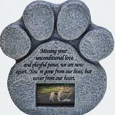 pet memorial garden stones paw print pet memorial features a photo frame and