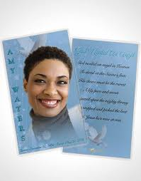 Funeral Card Template 2 Page Grad Fold Funeral Program Template Brochure Free Spirit