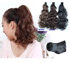 ponytail hair extensions 45cm 35cm synthetic hair extension ponytails drop shipping