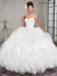 quinceanera dresses white strapless ruffled quinceanera dress by alta couture mq3004 abc fashion