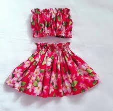 kids hawaiian hula skirtgirls hula dress outfittoddler baby