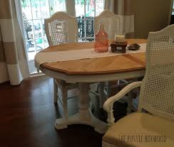 vintage dining table and chairs transformation