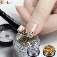 online get cheap nail art gold flakes aliexpress com alibaba group