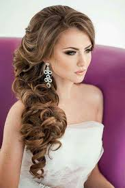 how to do side hairstyles for wedding side curls wedding hairstyle half up do wedding hair pinterest