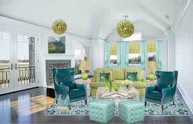 blue and green home decor living rooms with yellow blue green orange blue green and yellow