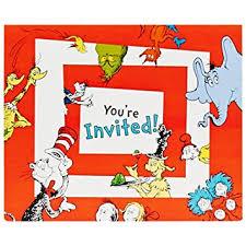dr seuss party dr seuss party supplies invitations 8 toys