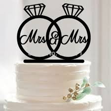 acrylic cake toppers wedding cake topper mrs and mrs acrylic