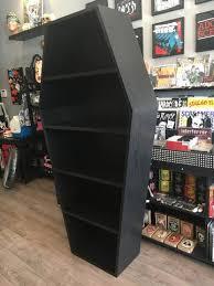 coffin bookshelf custom coffin bookcase deadrockers