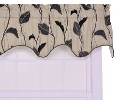 amazon com ellis curtain riviera large scale leaf and vine lined