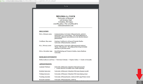 Resume Professor Mizzou Displays Melissa Click Cv Months After The Daily Caller