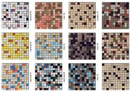 60 colors of mosaic floor tile for a mid century bathroom retro