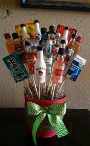 liquor bouquet for white elephant gift you can u0027t go wrong