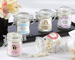 baby showers favors personalized glass favor jars for baby showers favors by kate aspen
