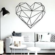 geometric home decor geometric home decor geometric heart shape wall stickers home