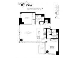 Two Bed Two Bath Floor Plans 1 2 U0026 3 Bedroom Apartments For Rent In Chicago North Water