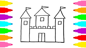 kinetic sand castle coloring pages drawing castle learn colors