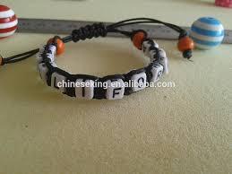 braided bracelet with bead images Diy letter beads woven bracelet alphabet initial letter beads hand jpg