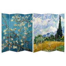 van gogh fine art double sided room divider almond blossoms and