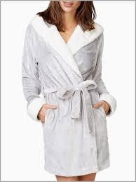 robe de chambre femme pas cher 297980 peignoir bicolore capuche